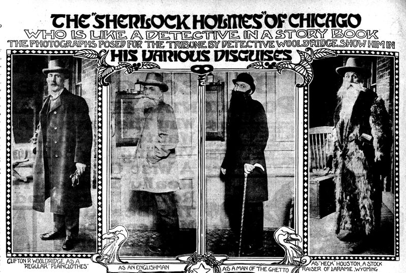 Nov. 25, 1906, edition of the Chicago Daily Tribune highlighted Wooldridge's many disguises. (Chicago Tribune)